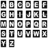 De chiquenaude lettres vers le bas Image libre de droits