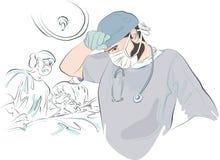 De chirurg na de verrichting royalty-vrije illustratie