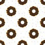 De chocolade donuts met kleurrijk bestrooit Royalty-vrije Stock Afbeelding