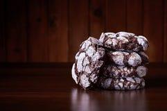 De chocolade knappert koekjes Royalty-vrije Stock Foto's