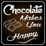 De chocolade maakt u Gelukkig Stock Foto's