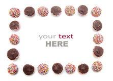 De chocolade met kleurrijk bestrooit Royalty-vrije Stock Foto's