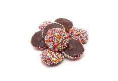De chocolade met kleurrijk bestrooit Royalty-vrije Stock Fotografie