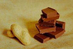 De chocolade ontmoet pinda Royalty-vrije Stock Fotografie