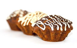 De chocolade van Cupcake Stock Afbeelding