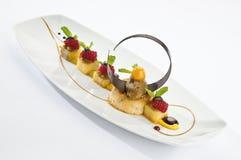De Chocolade van de banaankaramel Stock Foto's