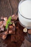 De Chocolade van de hazelnoot Stock Afbeeldingen