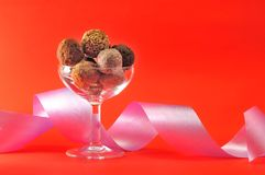 De chocolade van de Kerstmisgift royalty-vrije stock foto's