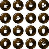 De chocolade van de koffie en de hete vector van drankendranken Stock Fotografie