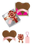 De chocolade van de liefde voor de dag van de valentijnskaart Stock Afbeelding
