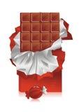 De chocolade van de plak Royalty-vrije Stock Afbeelding