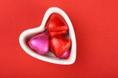 De Chocolade van de valentijnskaart stock foto's