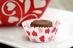 De Chocolade van de valentijnskaart Royalty-vrije Stock Foto