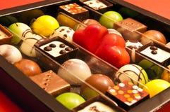 De chocolade van de valentijnskaart Stock Afbeeldingen