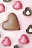 De Chocolade van de valentijnskaart stock foto