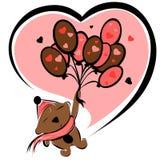 De chocolade van de valentijnskaart draagt Royalty-vrije Stock Fotografie