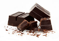 De Chocolade van het baksel op Wit stock afbeeldingen