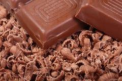 De chocolade van het detail Stock Afbeeldingen