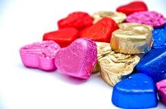 De chocolade van het hart Stock Afbeelding