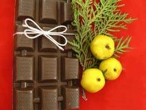 De chocolade van Kerstmis Stock Foto's