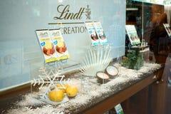 De Chocolade van showcaselindt Stock Fotografie