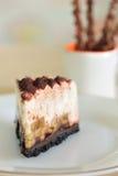 De chocoladecake van de banaan Stock Afbeelding