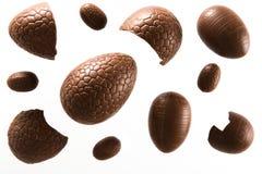 De chocoladeeieren van Pasen royalty-vrije stock afbeeldingen