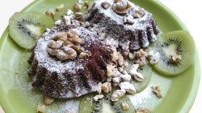 De chocolademuffins Stock Afbeeldingen