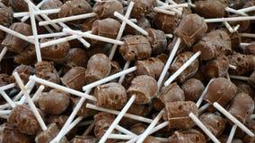 De chocoladeschedel knalt royalty-vrije stock foto's