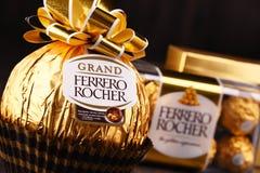 De chocoladesnoepjes van Ferrerorocher Stock Foto's