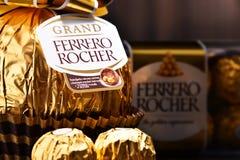 De chocoladesnoepjes van Ferrerorocher Royalty-vrije Stock Foto's