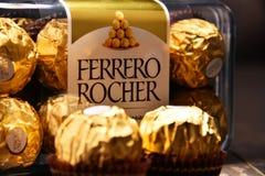 De chocoladesnoepjes van Ferrerorocher Royalty-vrije Stock Fotografie