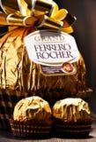 De chocoladesnoepjes van Ferrerorocher Royalty-vrije Stock Afbeelding