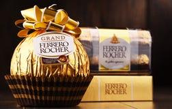 De chocoladesnoepjes van Ferrerorocher Royalty-vrije Stock Foto