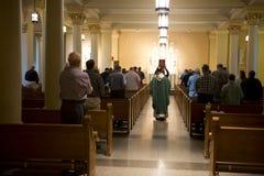 De christelijke Dienst van de Godsdienst en van de Massa, de God van de Verering stock fotografie