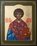 De christelijke genezer van de martelaarpanteliimon van heilige Royalty-vrije Stock Fotografie