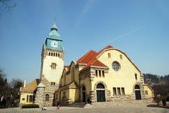 De Christelijke Kerk van Qingdao royalty-vrije stock afbeelding