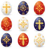 De christelijke Paaseieren van het Symbool Royalty-vrije Stock Afbeeldingen