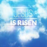 De christelijke viering van Pasen is hij toegenomen vectorachtergrond Stock Fotografie