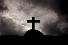 De christen kruist graven stock foto's