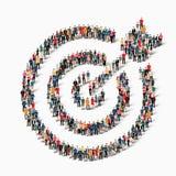But de cible de forme de personnes de groupe Photographie stock libre de droits