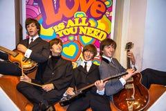 De cijfers van de Beatleswas in Mevrouw Tussauds-museum Londen Marie Tussaud was geboren als Marie Grosholtz in 1761 Stock Foto's