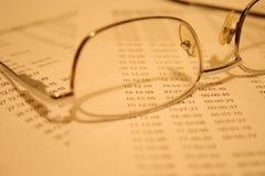 De cijfers van de boekhouding Royalty-vrije Stock Foto