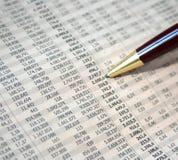 De cijfers van de boekhouding Royalty-vrije Stock Foto's