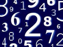 De cijfers van de cijferskarakters van aantallen Stock Afbeeldingen