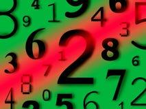 De cijfers van de cijferskarakters van aantallen Royalty-vrije Stock Foto's