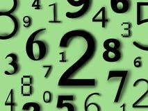 De cijfers van de cijferskarakters van aantallen Royalty-vrije Stock Afbeeldingen