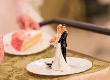 De cijfers van de huwelijkscake stock foto's