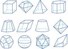 De cijfers van de meetkunde Stock Afbeelding