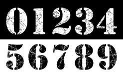 De cijfers van Grunge Royalty-vrije Stock Foto